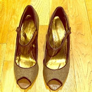 Peep toe Mary Janes by Predictions